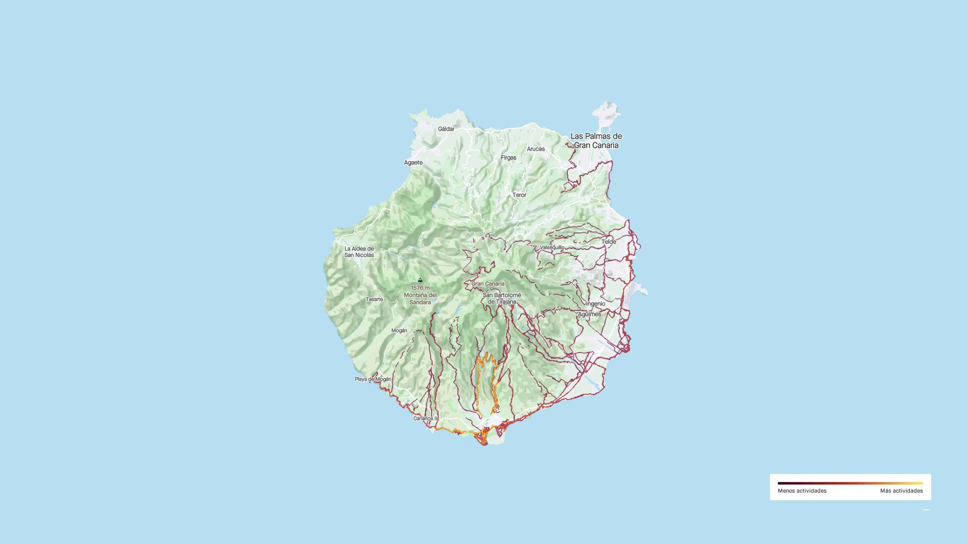 Strava, mapas de actividad