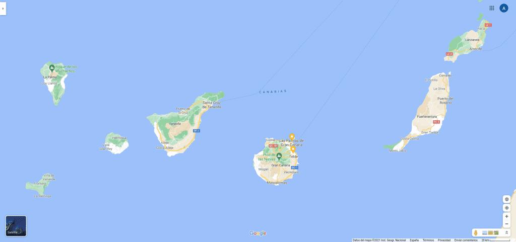 Canarias en Google Maps