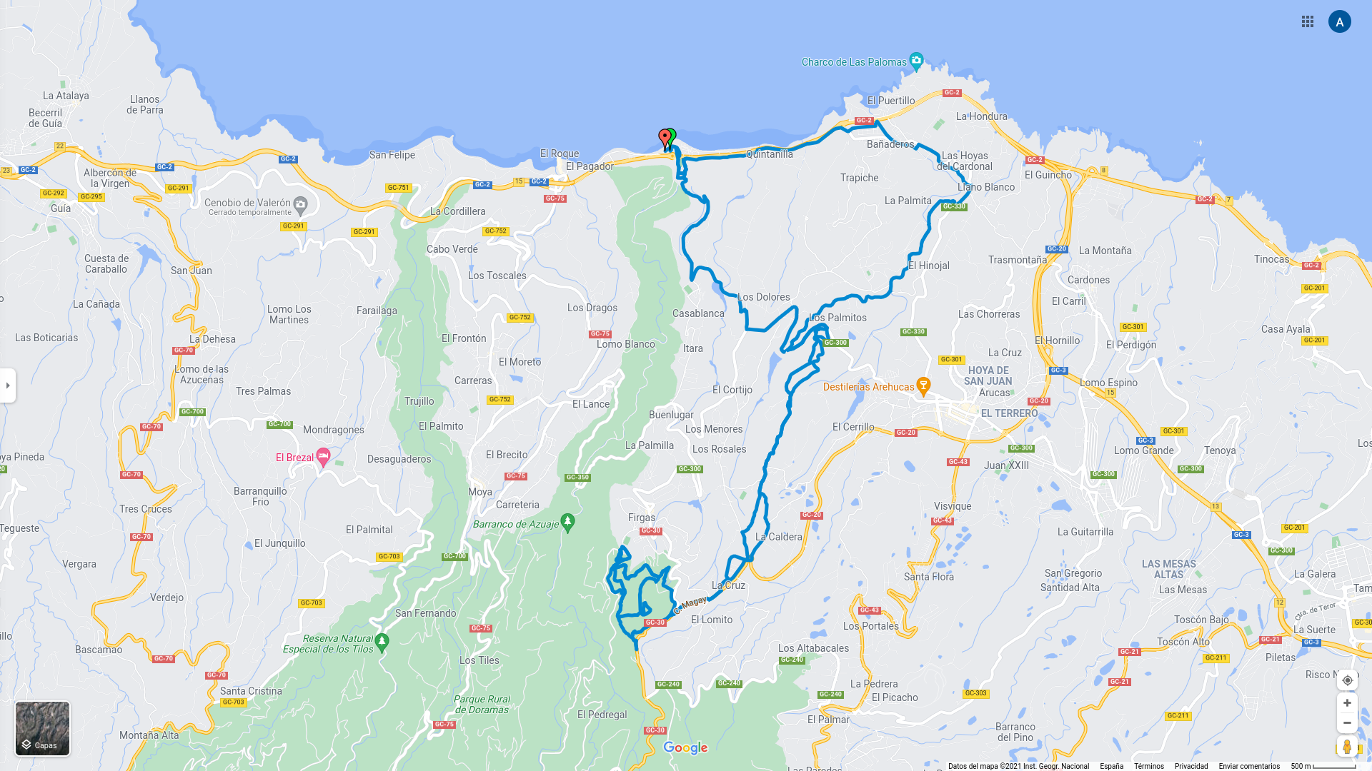 Importar GPX en Google Maps